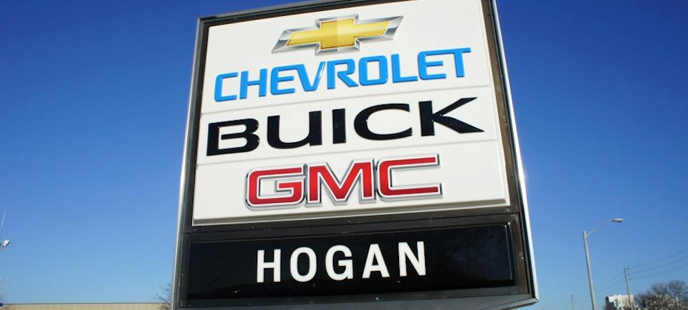 Hogan Chevrolet Buick GMC's street sign