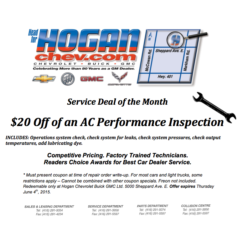 Hogan Service Deal May Coupon