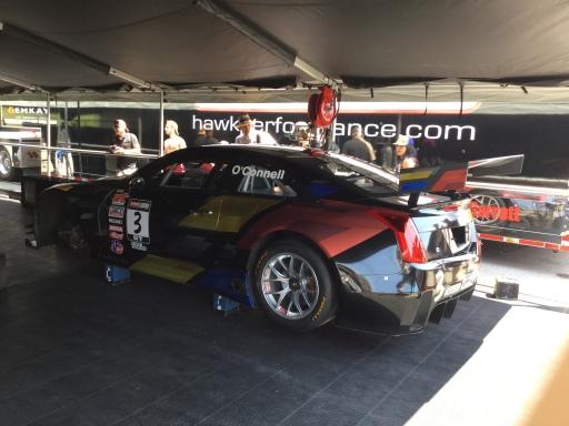 Winning Cadillac ATS in team tent