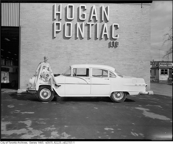 Photo of Hogan's Service Department from 1955