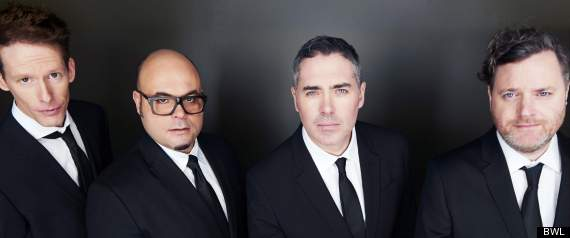 Photo of the Barenaked Ladies in suits