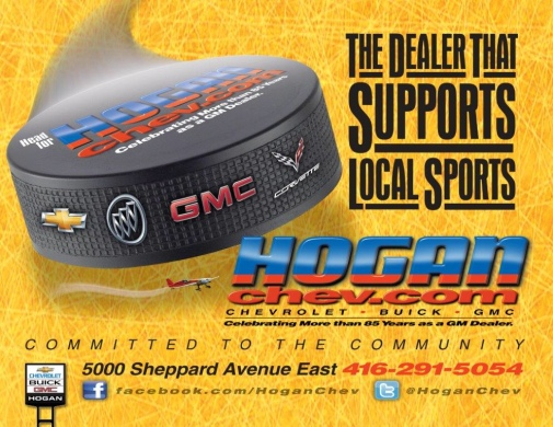 Support Hogan Chev, the dealer that supports local sports!